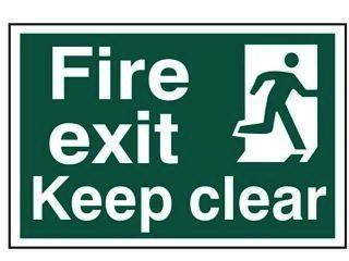 Image of Fire Exit Sign 001